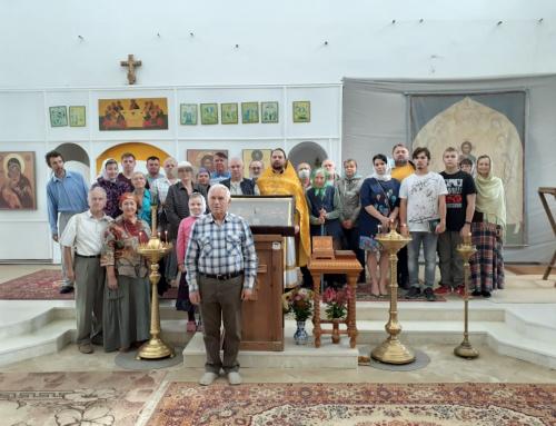В Храме святителя Василия Великого в селе Кистыш состоялась Божественная Литургия